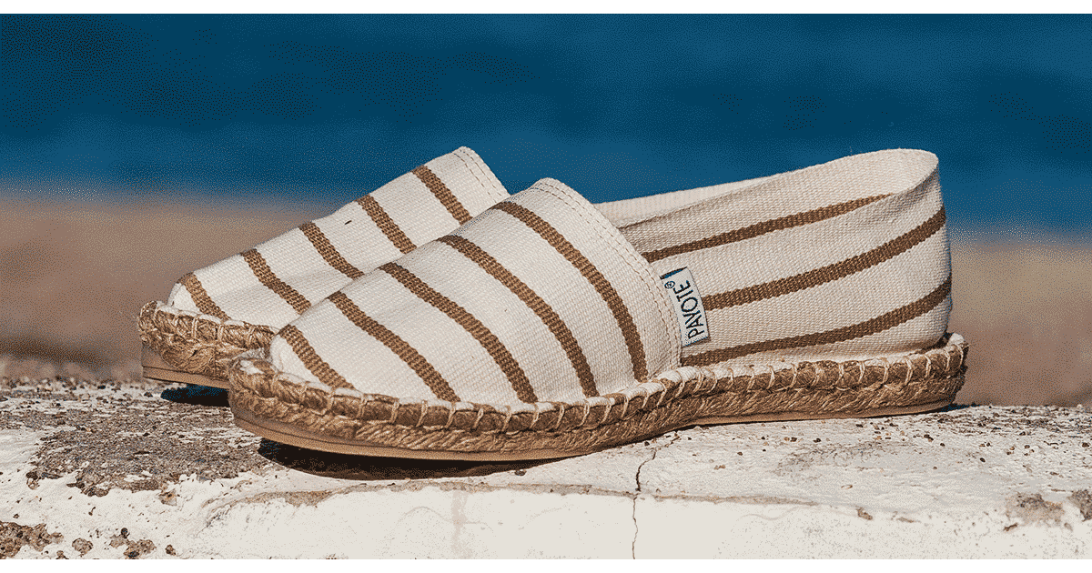 Espadrille à rayures beiges - Espadrille Made in France - Payote.fr